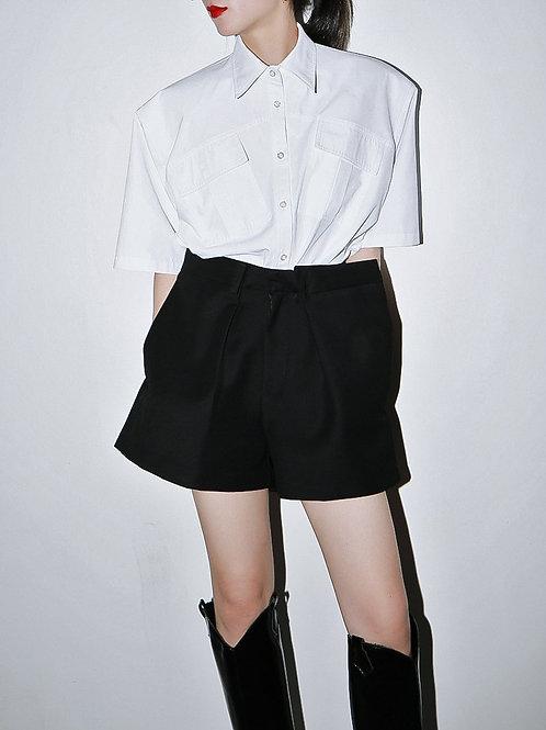 Akasuki Pleated Wide Leg Shorts