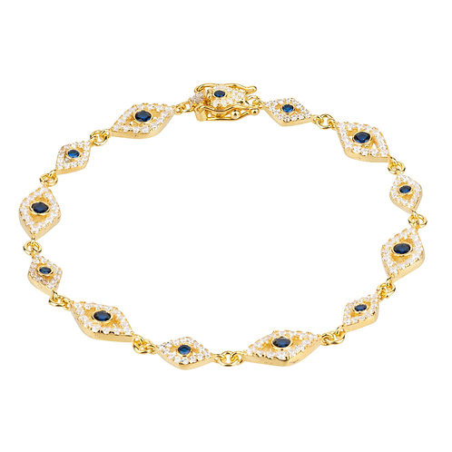 Eye Sparkling Tennis Bracelet Gold