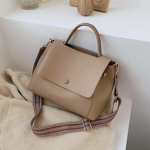Fashion Simply PU Leather Crossbody Bag For Women 2021 winter Solid Color