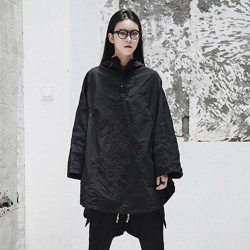 Chiemi Hooded Batwing Pocket Jacket