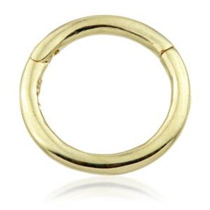 18ct Gold Plain Segment Hinge Ring (1mm)