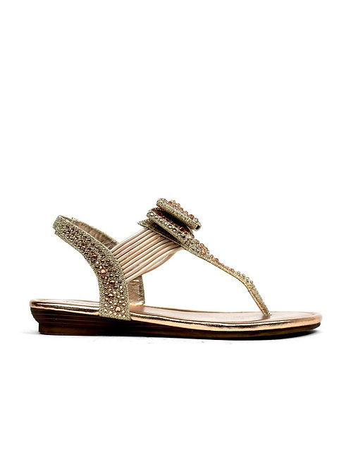 The Holiday Sandal Champagne