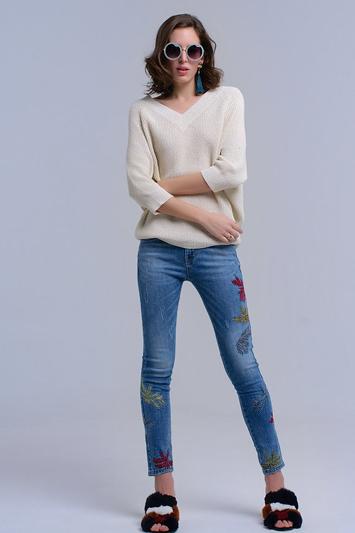 Skinny Embroidered Jeans Q2-AVICII SWISS Collaboration