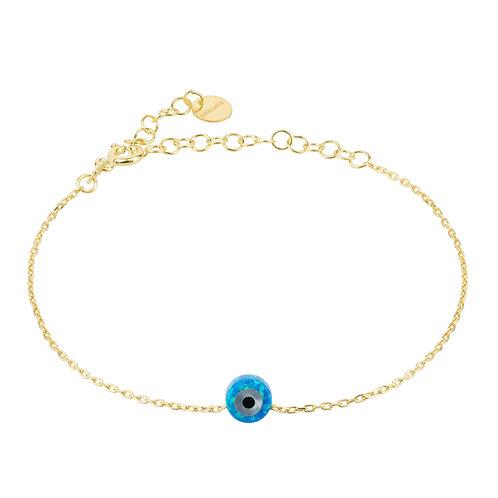 Evil Eye Mini Opalite Bracelet Gold