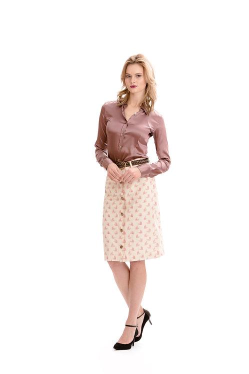 Ikat Cotton Skirt
