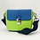 Thumbnail: Tiny Leather Handbag -Blue/Lime (Option 1)