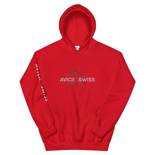 AVICII SWISS RED Unisex Hoodie
