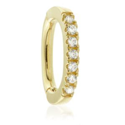 9ct Gold Oval Pave Rook Ring