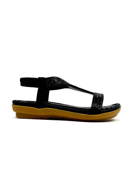 Girl's Open Toe Flat Party Sandal Lack