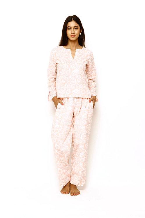 Mirabella Wide Leg Pant - Salmon Pink