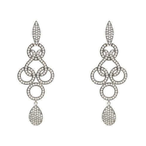 Celtic Knot Shannon Drop Earrings Oxidised