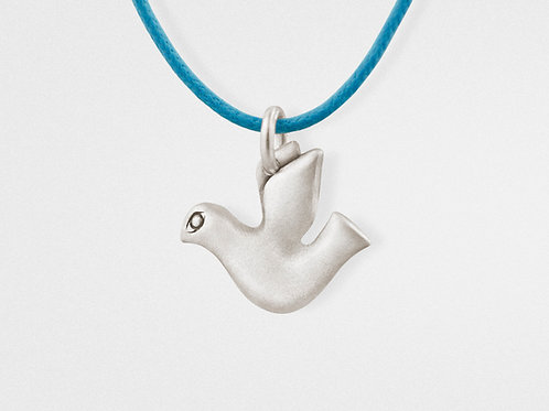 Dove Pendant in Oxidized Sterling Silver