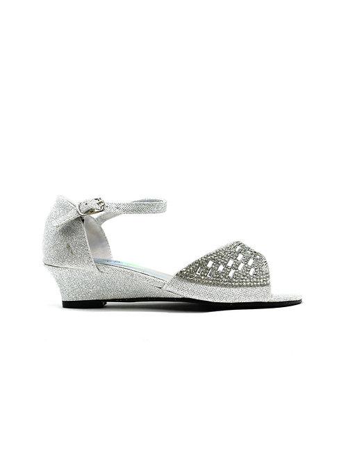 Jaspreet Girl's Party Sandal Silver