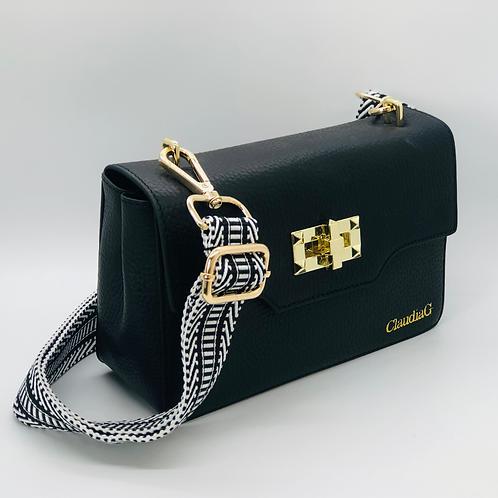Sidekick Leather Shoulder Bag -Black