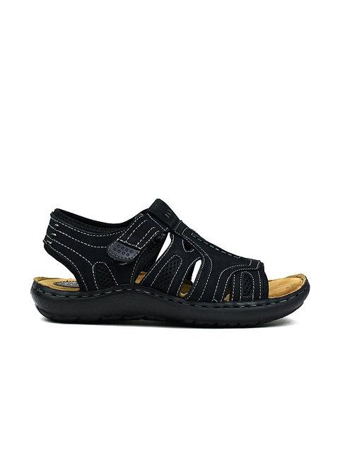 Men's Leather Sandals Black