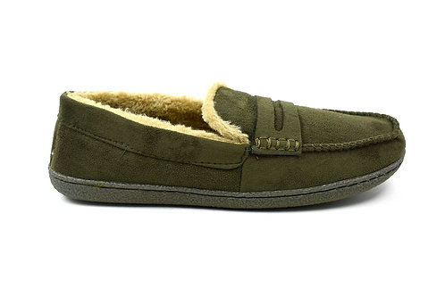 Men's Indoor Moccasin Slippers Khaki