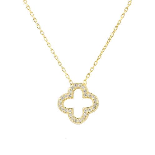 Open Clover Pendant Necklace