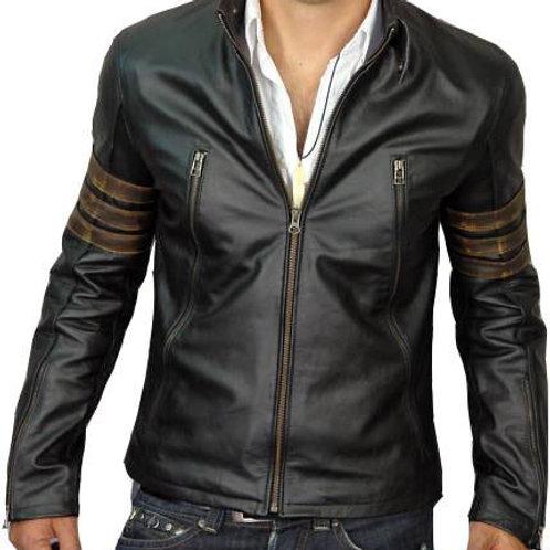 Men Black XMen Style Leather Jacket