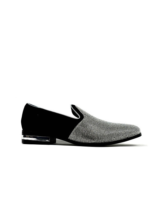 Men's Sparkling Glitter Party Shoes Silver