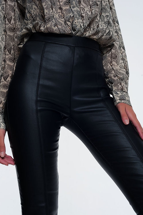 Leather Look Leggings With Elastic Super Skinny Q2-AVICII SWISS Collaboration