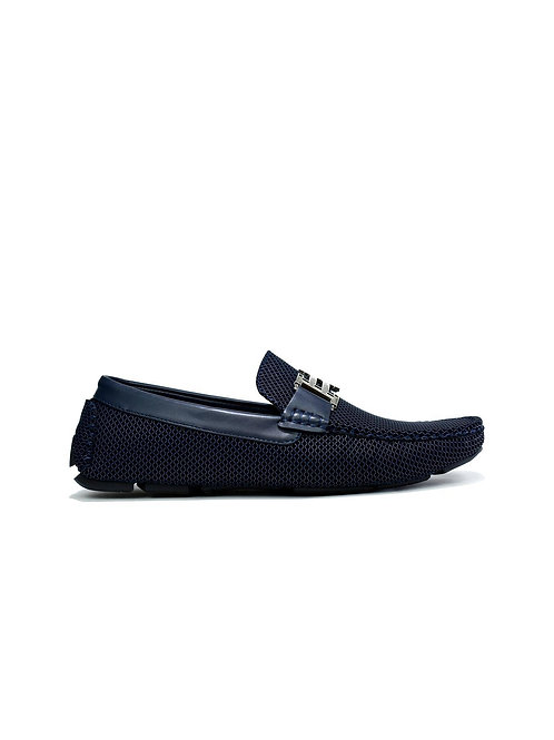 Double H Buckle Loafer Navy