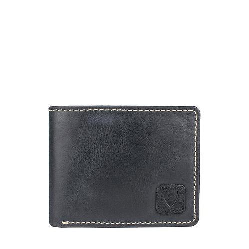 Camel Stitch RFID Blocking Trifold Leather Wallet