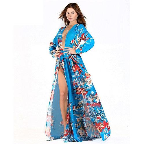 Blue Kimono Dress AVICII SWISS Evelyn Belluci Collaboration