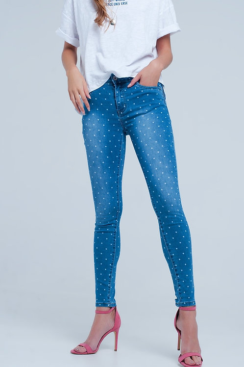 Skinny Jeans in Polka Dot Print Q2- AVICII SWISS COLLABORATION