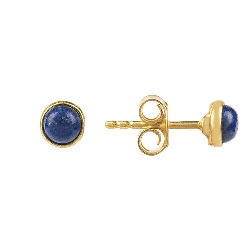 Petite Stud Earring Gold Lapis Lazuli