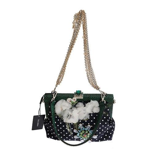 Dolce & Gabbana Multicolor VANDA Floral Embroidered Crystal Bag