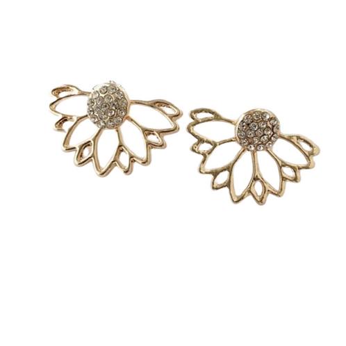 Crystal Earrings -Gold