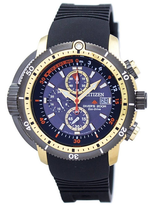 Citizen Promaster Aqualand Diver Eco-Drive Chronograph BJ2124-14E Men's Watch