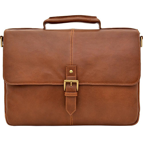 """Charles 15"""" Laptop Compatible Leather Briefcase"""
