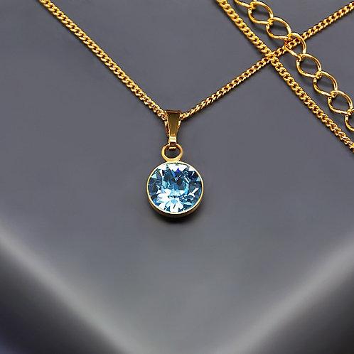 """Classic (Aquamarine Blue)"" pendant with Crystals From Swarovski™"