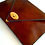 Thumbnail: Brown leather clutch  Camel leather bag  Women business bag  Leather file folde