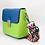 Thumbnail: Tiny Leather Handbag -Blue/Lime (Option 2)