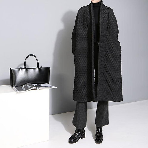 Alver Button Back Quilted Coat