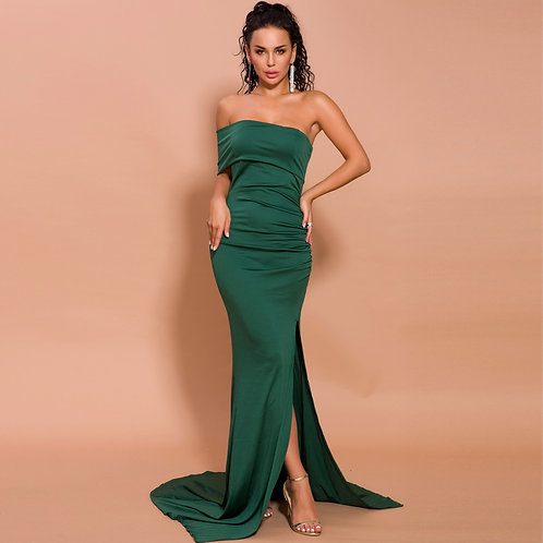 Green Evening Gown AVICII SWISS Evelyn Belluci Collaboration