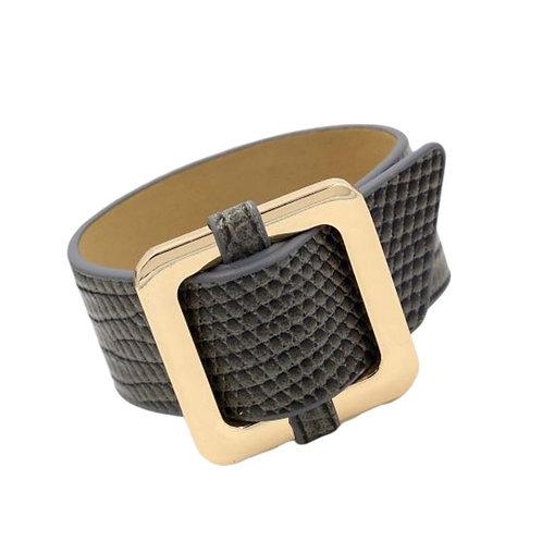 Square Lock Bracelet -Grey
