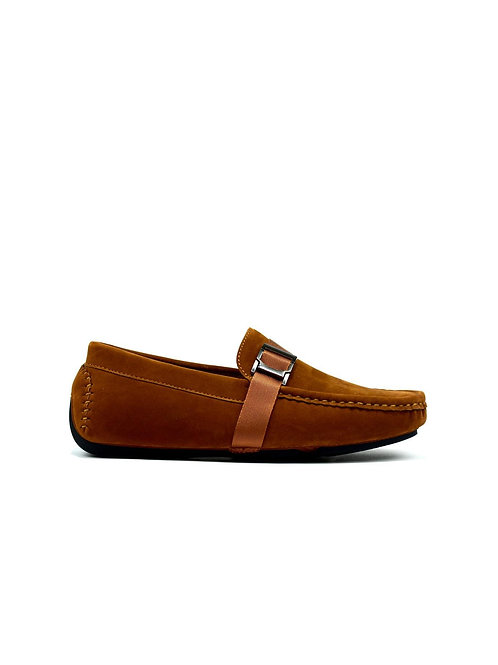 Men's Buckle Strap Loafer Tan