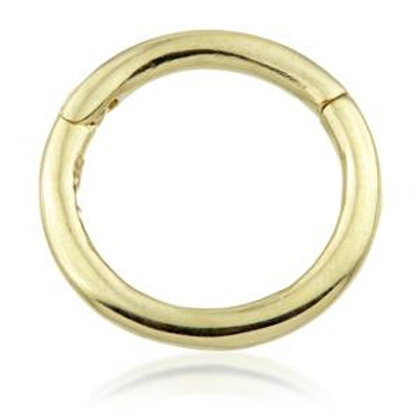14ct Gold Plain Segment Hinge Ring (1mm)