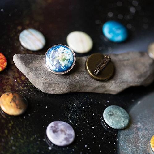 Interchangeable Solar System Lapel Pin