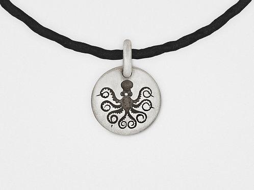 Octopus Charm Bracelet in Sterling Silver