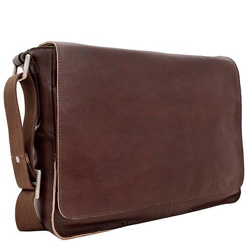 Hidesign Fred Leather Business Laptop Messenger Cross Body Bag