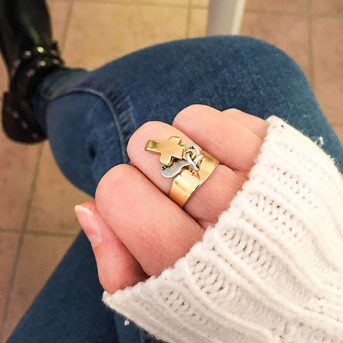 AVICII SWISS Cross Ring in Gold Plated Brass