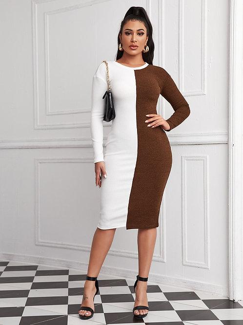 AVICII SWISS Drop Shoulder Spliced Dress
