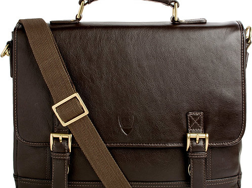 """Hunter 15"""" Laptop Compatible Leather Briefcase"""