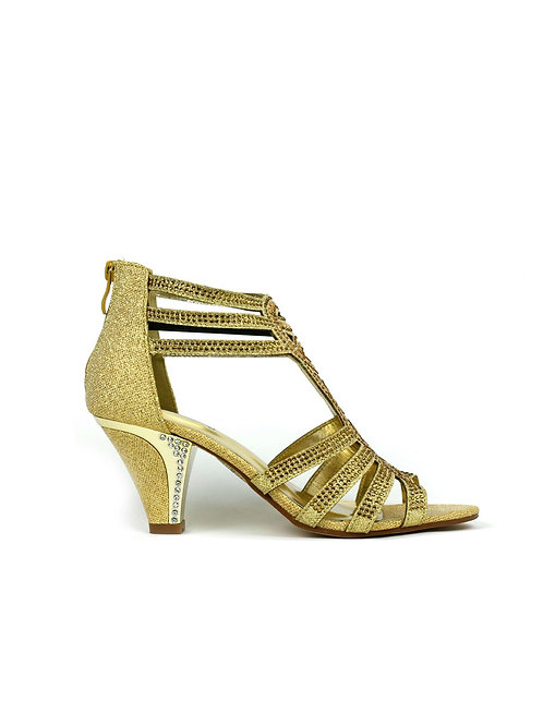 Up to My Ankles Sandal Gold