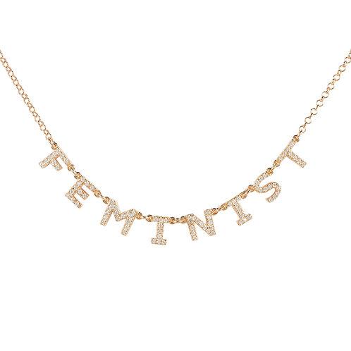 Choker Feminist Necklace Rose Gold