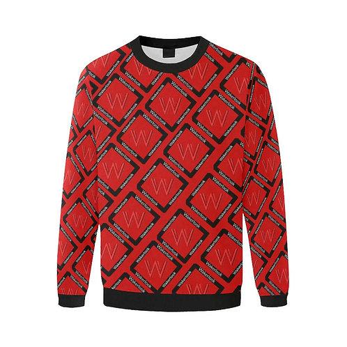 Red Fashion Wakerlook Print Fuzzy Sweatshirt